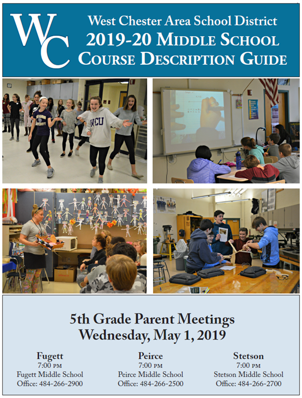 picture of the cover of the Middle School Course Description Guide