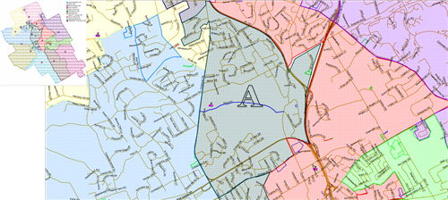 Section A map of proposed boundary changes