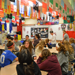 Students engage in World Language activities.
