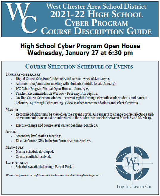 picture of the cover of the High School Cyber Program Course Selection Guide