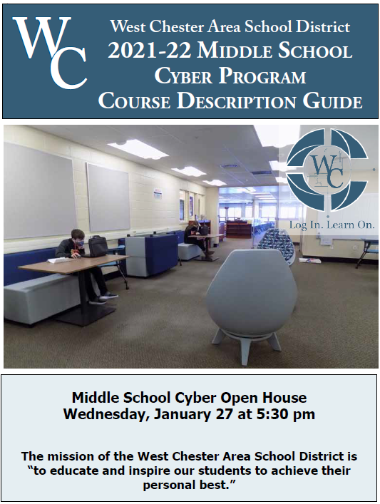 picture of the cover of the Middle School Cyber Program Course Description Guide