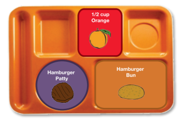 Sample tray showing a reimbursable lunch
