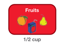 1/2 cups fruit options